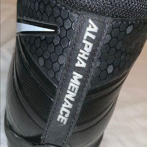 Black Nike Cleats Alpha Menace Football